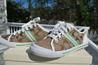 New COACH FOLLY SIGNATURE SNEAKER SHOES WOMEN SZ 6.5 JACQUARD KHAKI