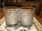 Ralph Lauren Logo Safari Double Old Fashioned Tumblers Lowball Glasses Set of 2