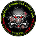God Bless Essential Worker Round Oval Sticker 3 Inch Essential Workers