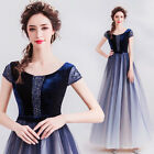 NEW Evening Formal Party Ball Gown Prom Bridesmaid Show Host Sequin Dress TS2198