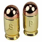 Ceramic Bullet Novelty Salt and Pepper Shakers Outdoors Cabin Sporting Goods