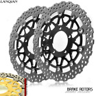 Gold & Black Front Brake Disc Rotors For Kawasaki ZX-14R ZZR1400 GTR1400 06-14