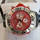 Nexus Men's Watch Black/Red Band Chronograph H2O Resistant #5040D NEW