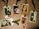 6 Vintage Sassy Gals Fussy Cut Linen Cardstock Gift Hang Tags