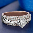 150 Ct Diamond Heart Shape Engagement Wedding Ring Real 10K Two Tone Gold
