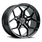 20 Blaque Diamond BD F25 Black 20x9 20x9 Wheels Rims Fits Audi SQ5