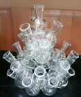 Vintage Clear Glass Flower Bud Vase Cluster Designer Floral Arranger 3 Pieces