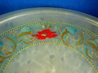 Frosted Glass Hand Painted Footed Compote Centerpiece Estate