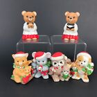 VTG Christmas Village Nativity Homco Figurines Figures Bears Mouse Dog Cat Set