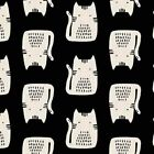 Cats  Dogs Andover Cotton Quilt Fabric A 8966 K Black Sarah Golden