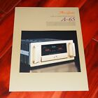 ACCUPHASE A-65 brochure Class-A stereo power amplifier audio high-end prospekt