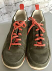 LL Bean Size 75 M Women Green Suede Leather Sport Athletic Sneakers Lace Up