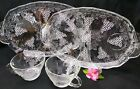 Cup Grapes Design lot of 2 Clear Glass