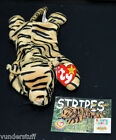 Beanie Babies Stripes the Tiger, 1995 w/ Collector Card & Tag, Early Beanie