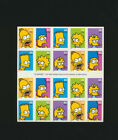 The Simpsons 2009 Mint NH Full Sheet of 20 Stamps 4399 4403 Convertible Booklet