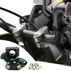 Black Aluminum Motorcycle Handlebar Risers Kit Hand Bar Extension Back Moved Up