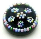 Wonderful PERTHSHIRE Concentric MILLEFIORI Canes STAR Art Glass PAPERWEIGHT 32