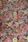 Sewing Craft Fall Harvest Brown Rust Color Tones Floral Fabric BTY Fast Shipping