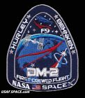 AUTHENTIC SPACEX DM 2 FIRST CREWED FLIGHT F9 ISS NASA SPACE Mission PATCH