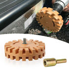 1x Eraser Wheel Kit Decal 4'' Car Stickers Caramel Pneumatic Removal Accessories