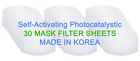 Face Mask Filter 30 Sheets 1pack Made in Korea W Test Report ship from US