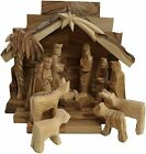45 Stable w 275 Nativity Set Pieces Bethlehem Olive Wood Handcarved Israel
