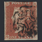K11 GB QV 1841 1d RED BROWN PLATE 37 SG8 QK GU MALTESE X