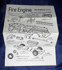 Vtg 1971 The Lindberg Line Big Wheels Fire Engine #D279  Instruction Sheet Only