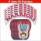 Warrior Iron On Patches Embroidered Artwork Sew On Applique Patch 15 x 13