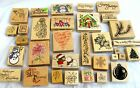 LOT of 32MOUNTEDRUBBERSTAMPSCHRISTMAS  OTHERSMOSTLY NEW