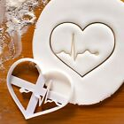 ECG Heart cookie cutter HeartBeat Rhythm Cardiac Electrocardiography biscuit