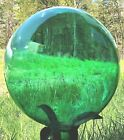 Extra Large 12 inch Emerald Green Hand Blown Glass Gazing Ball USA MADE NOS