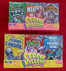 Wax-Eye CEREAL KILLERS Series 1 & 2 Trading Card & Sticker -Cereal 3pk Box Sets