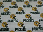 NFL Green Bay Packers White Football Fabric 1 2 Yard 18 Inches x 56 Inches