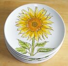 Room Creative set of 6 sunflower appetizer dessert plates 6 yellow white