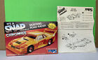 MPC IT'S A  SNAP MUSTANG ROAD RACER MODEL KIT BOX AND INSTRUCTION SHEET