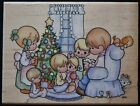 Vintage Precious Moments Family Christmas Rubber Stamp UR001 Stampendous 1995