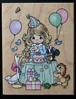 Vintage 1998 Precious Moments Birthday Girl Rubber Stamp UR004