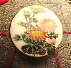 Satsuma Button Post 1921 Skillfully Hand Painted Signed JAPAN One Inch