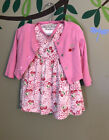 Baby Girl Pink Dress Bloomers Jacket Size 12months Vitamins Kids  GUC