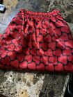 Vtg Max Deco Nwot Red Satin Boxers Size L Hearts  💕 Shiny Soft