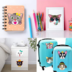 Ticiaga 36Pcs Dog And Cats Make A Face Kids Stickers Sheets Make Your Own Dogs