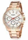 ROTARY $695 MEN'S ROSE GOLD CHRONO WATCH, DATE, STOPWATCH, 24 HOURS  GB00174-06