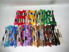 EMBROIDERY FLOSS THREAD LOT MULTI COLOR RAINBOW 60+ SKEINS ESTATE FIND