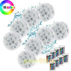8x Waterproof Underwater Led Lights with remote for Swimming Pool Hot tube Spa