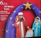 NEW Christmas PreLit 65 Foot LED Nativity Scene Inflatable Jesus Mary