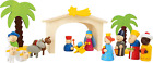 Wooden Christmas Nativity Manger Play Set