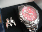 Festina rot F16095 Chronograph Tour Bike Tauch Uhr 100m Special Edition 2006