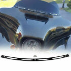 Black Slotted Windshield Trim For 2009 Harley Tri Glide Ultra Classic FLHTCUTG