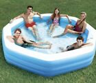 Summer Waves 10 Octagonal Inflatable Family Swim Pool Backyard Kid